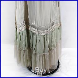 NEW NWT Nataya Plus Size Vintage Edwardian Gown Antique Beige Dress Slip Set 2X
