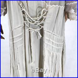 NEW NWT Nataya Plus Size Vintage Edwardian Gown Antique Beige Dress Slip Set 3X