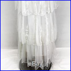 NEW NWT Nataya Plus Size Vintage Romantic Ivory Bridal Gown Dress & Slip Set 1X
