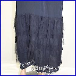 NEW NWT Nataya Plus Size Vintage Titanic Gown Sapphire Tulle Dress & Slip Set 3X