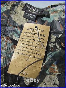 NEW RRL S dress $695 Ralph Lauren crinkled silk slip black floral Gatsby sexy oo