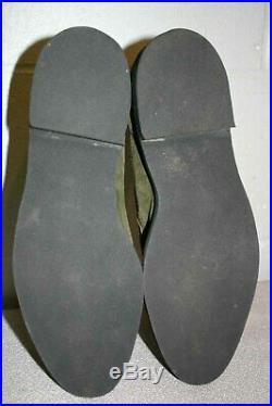 NOS 7.5 Mens Green Suede VTG 1970s Hush Puppies Loafer Slip On Dress Shoe 70s