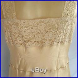 NWOT Antique Vintage Fischer Heavenly Silk French Lace Dress Slip 30s/40s Sz36