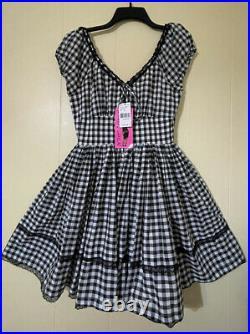 NWT $320Vintage Betsey Johnson Black Gingham Flare Dress 4