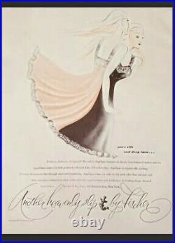 NWT Black 100% Silk Slip Dress 1940s Vintage Heavenly Silks by Fischer Full Slip