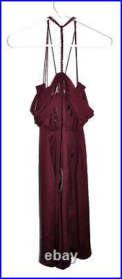 NWT Gucci Dress VTG 2002 Tom Ford 100% Silk Size 42 Wine Color Cocktail Length