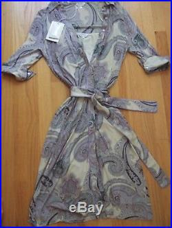 NWT Max Mara Dress w Sep Slip Paisley Vintage Made in Italy belted size 12 \ 46