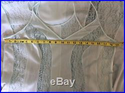 NWT NOS VTG OLGA Lace Inset Nightgown Gown Slip Dress Aquamarine XL Extra Large