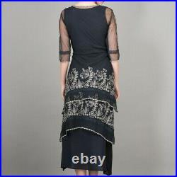 NWT Nataya Vintage Titanic Tea Party Blue Dress Slip Set