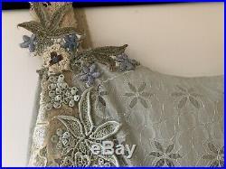 NWT Vintage Anthropologie Odille Vintage Lace Tea Slip Dress Embroidered