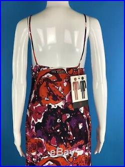 NWT Vintage Jean Paul Gaultier Bacteria Print Maxi Slip Style Dress (US 6)