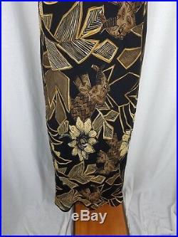 NWT Vintage Saint Tropez Wear 80s Long Maxi Sheer Floral Slip Dress Womens M