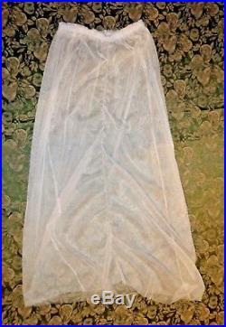 Nataya Lace Tulle Retro Vintage Victorian Tea Length Ivory Includes Slip Size L