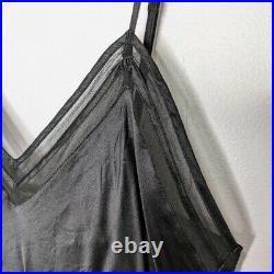 Neiman Marcus Women's Vintage Black Maxi Silk Sleeveless Slip Dress Size L