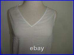 New April Cornell White Slip L Large Nighties Sleepwear Dress NWT Lace Vintage