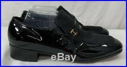 New Old Stock Vintage Nunn Bush Black Leather Loafer Slip On Shoes Mens Sz 10.5C