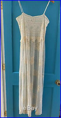 Nightcap Clothing Vintage Lace Slip Dress Sz 2