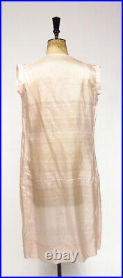 Original Vintage French 1920s 1930s Deco Pale Pink Silk Lingerie Slip Dress
