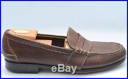 POLO RALPH LAUREN Brown Leather Casual Penny Loafers Slip On Dress Shoes 12 D