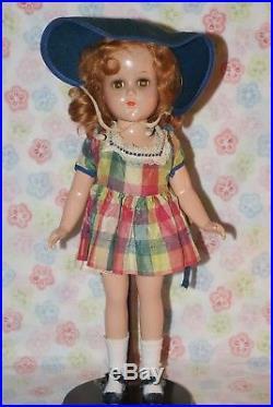 PRETTY! Vintage 14 Nancy Lee Original Plaid Taffeta Dress & Slip Composition Do