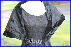 Pierre Balmain 1950s Haute Couture Black Cocktail Dress, Slip, Wrap Numbered