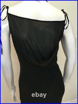 Plein Sud Strappy Black Silk Dress Size 40 / US 8