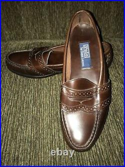 Polo Ralph Lauren Men's Size 9 D Leather Slip On Loafers Dress Shoes