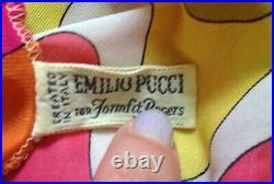 Psychedelic Tropical Print Mini Dress Vintage Emilio Pucci 34 EU / size 8 AU