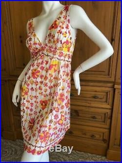 Pucci for Formfit Rogers Sweet Vintage Empire Waist Low Cut Slip Dress