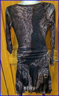 Purple Vintage Jean Paul Gaultier Fuzzi Mesh Dress Small S
