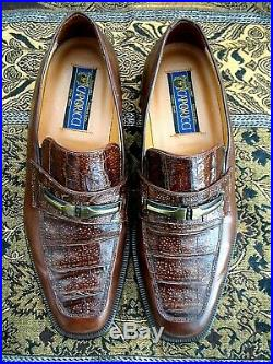 RARE Caporicci Men's Oxford Loafer slip on Crocodile shoes SZ 12 EXCELLENT
