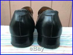 RARE EUC Vintage Foster and Son Men's Black Leather Slip-on Shoes Size 11 E