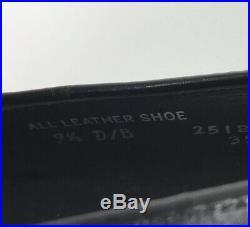 RARE Hanover Shell Cordovan 9.5 D Black Tassel Loafer Shoes Mens Vintage Slip On