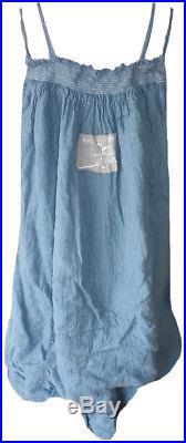 RARE Magnolia Pearl Laguna Linen Fanny Slip Lagenlook Vintage Style