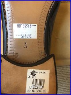 RARE NEW 1993 MEN'S VINTAGE A. TESTONI Crocodile SLIP ON dress shoes 7 $1,300