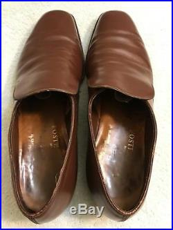 RARE VTG Foster & Son Brown Lleather Slip On Shoes Mens Size 11 M