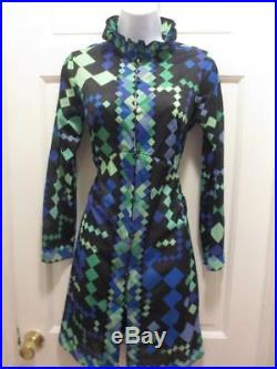 RARE Vintage 1960'S EMILIO PUCCI For FORMFIT ROGERS Slip DRESS Nightgown Small
