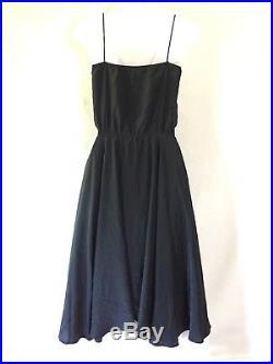 ROYAL SILK Elegant 70's Vintage Style Sun Slip Little Black Dress LBD Size 10 M
