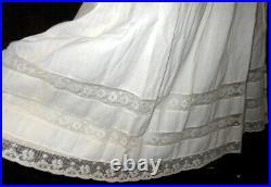 Rare! Antique Victorian Edwardian Gibson Girl Trousseau Princess Slip Petticoat
