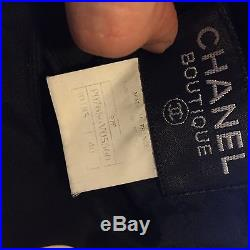 Rare Chanel Vintage SS1997 Black White CC Logo Polka Dot Slip Silk Dress 40