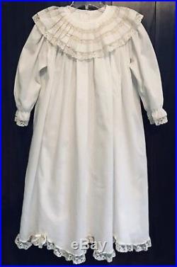 Rare Peppermint Pony Heirloom Dress Slip White Ecru Lace