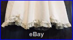 Rare Peppermint Pony Heirloom Dress & Slip White/ Ecru Lace Flower Girl Sz 5T