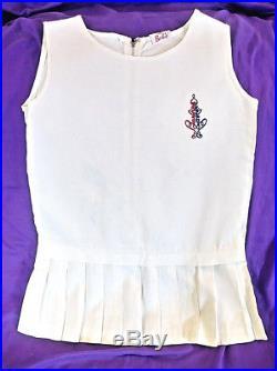 Rare Vintage Licensed Barbie Logo Girls Tennis Dress Slip Sears Catalog 1964