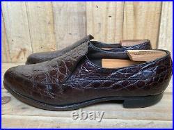 Rare Vintage VTG Florsheim Genuine Alligator Crocodile Loafers Slip On Sz-10.5 D