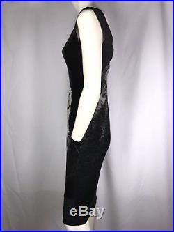 Rare Vtg Dolce & Gabbana Feline Dress WithSlip S IT42 AW2003