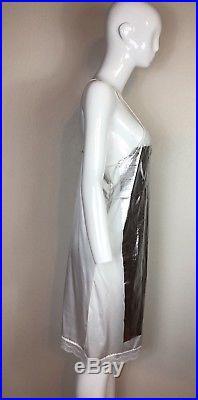 Rare Vtg Maison Martin Margiela 2003 Foil Slip Dress S