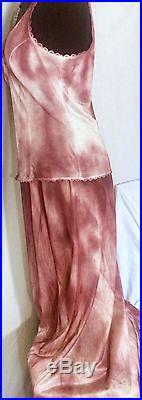 Red/White Striped Tie-Dye Vintage Slip Dress sz L- Plastics Style! By Lexa Vonn