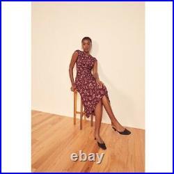 Reformation Vintage Floral Side Slit Crepe Midi Dress NWT Size 6