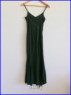 Roberta Scarpa 90s Slip Dress Green Knit Dress 90s Designer Dress Made In Italy