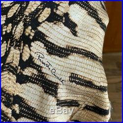 Roberto Cavalli Vintage Leopard Lace Slip Dress XS